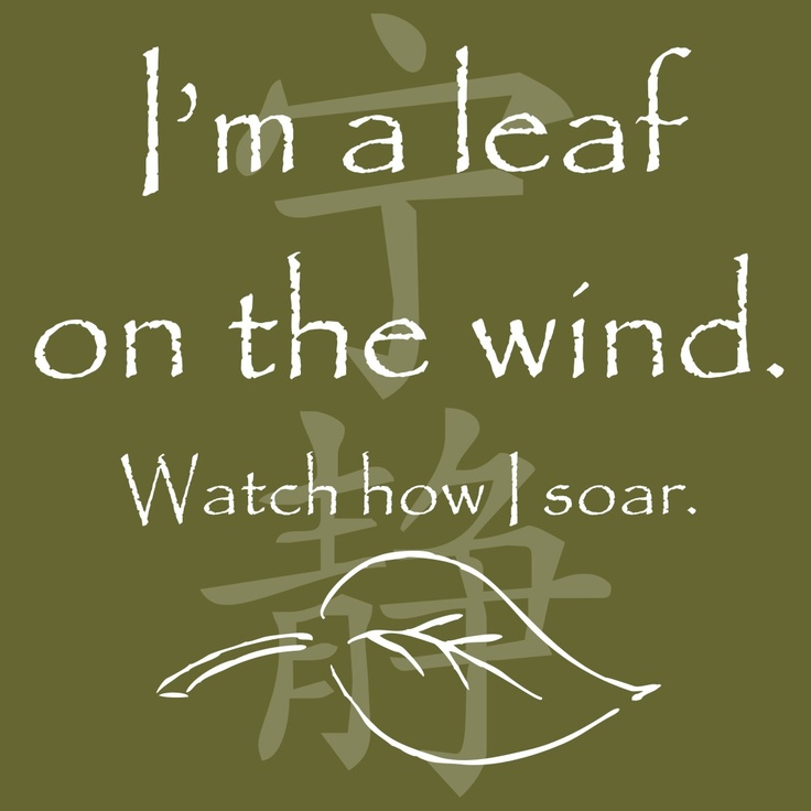 I am a leaf on the wind watch